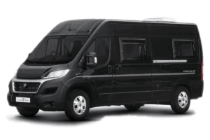 exterior image of an expedition campervan black